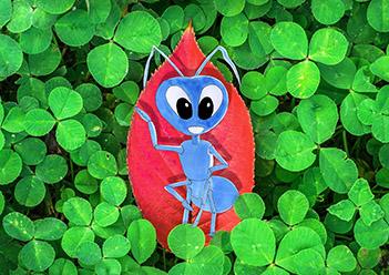 Azul, una hormiga diferente